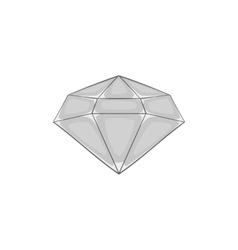 Diamond icon black monochrome style vector image