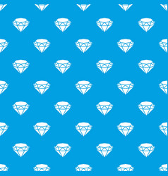 diamond pattern seamless blue vector image