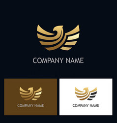 Eagle gold emblem logo vector