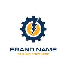 electric mechanical logo vector image