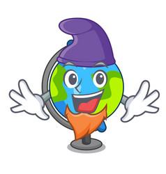 elf globe character cartoon style vector image