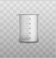 Empty glass measuring cup with number scales vector