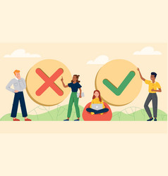Filling completed or not completed concept vector