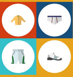 Flat icon garment set of banyan underclothes vector