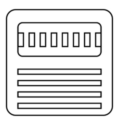 Floppy icon outline style vector