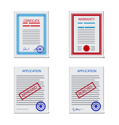 form and document icon set vector image
