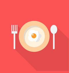 frying egg icon set of great flat icons with vector image