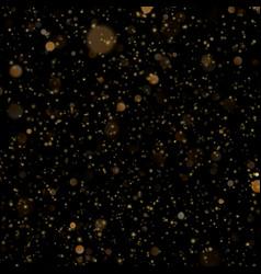 Gold bokeh on dark background glitter gold de vector