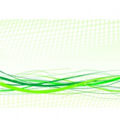 Green lines background vector