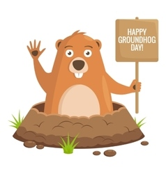Groundhog day celebratory background vector