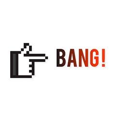 Hand Gun vector image