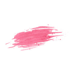 Hand painted pink watercolor texture isolated vector