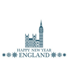 Happy New Year England vector image