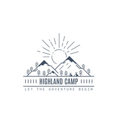 highland camp logo design vector image