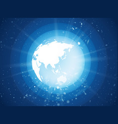 Internet concept of global business blue planet vector