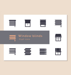 Isolated icons set window blinds vector