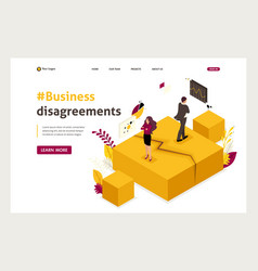 Isometric business partner disagreements vector