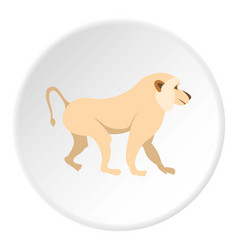 Japanese macaque icon circle vector