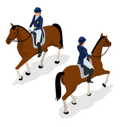 jockey on the horse champion horse racing vector image