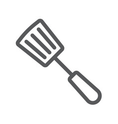 kitchen spatula line icon kitchen and cooking vector image