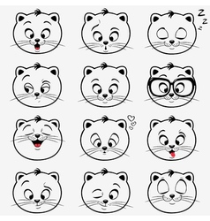 Kittens emotions vector