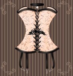 Ladys beige corset vector
