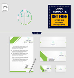 Light interior logo template and stationery vector