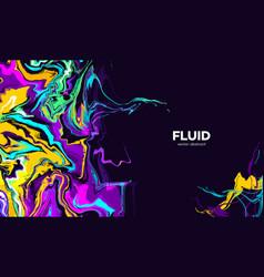 liquid vibrant colors mix holi banner vector image