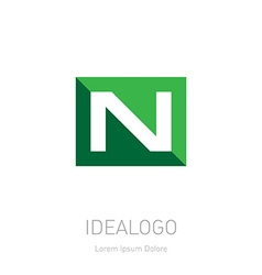 Logo with letter N Logotype design element or icon vector image