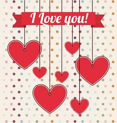 love postcard vector image