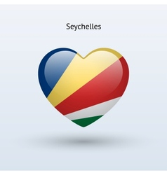 Love Seychelles symbol Heart flag icon vector