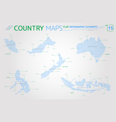 Malaysia indonesia australia new zealand and vector
