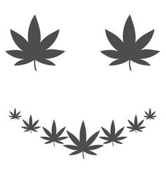 Marihuana smile flat icon vector