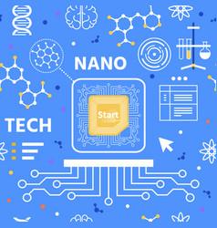 nano technology flat cartoon seamless pattern vector image