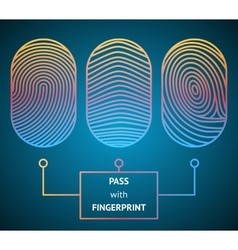 Pass with Fingerprint vector image