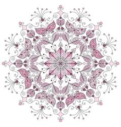 Pastel round vintage pattern vector