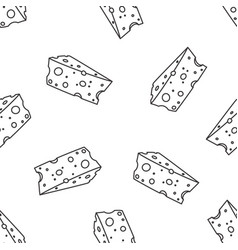 Pattern with cheese vector