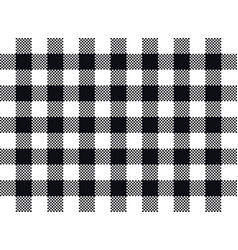 Plaid seamless pattern design black and white vector