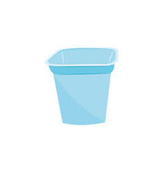 plastic food container blue icon isolated vector image