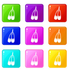 Pointe shoes set 9 vector