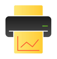 Printout flat icon printer color icons in trendy vector