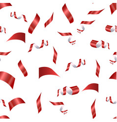 red confetti on a white vector image