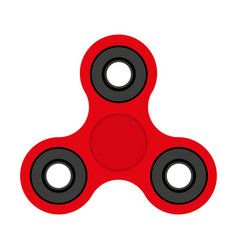 red spinner toy for stress removal flat design vector image