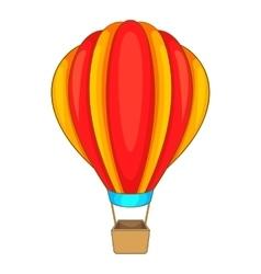 Round balloon icon cartoon style vector