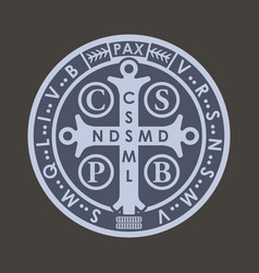 Saint benedict medall vector