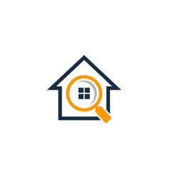 search house logo icon design vector image
