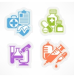 Set of color medicines symbols vector