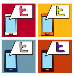 Set of tumblr social media icons vector