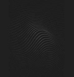 silver lined abstract pattern on black vector image