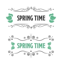Spring time sign on a white backgorund vector